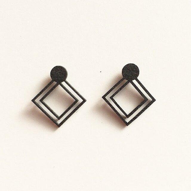 ペーパーピアス Paper pierced earring 0003 BLACK PV-0003Bの画像1枚目