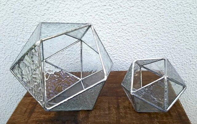 ★20面体(18ピース)★bigテラリウム(ステンドグラス)の画像1枚目