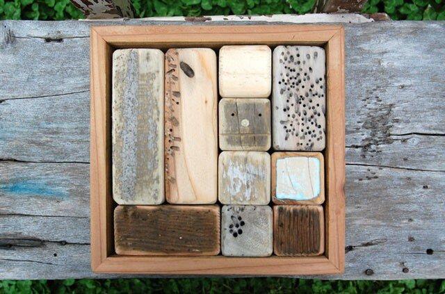 「ロボ頭」入り流木で作った積み木(10ピース)001の画像1枚目