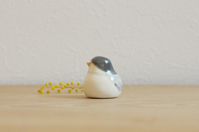 【如月・新作】文鳥 (ツヤ)国産ヒノキの木箱入りの画像1枚目