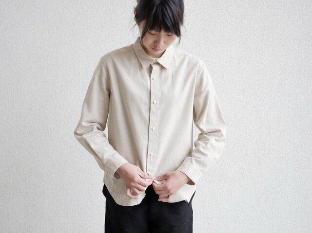 エシカルヘンプマニッシュシャツ プレーンタイプの画像1枚目