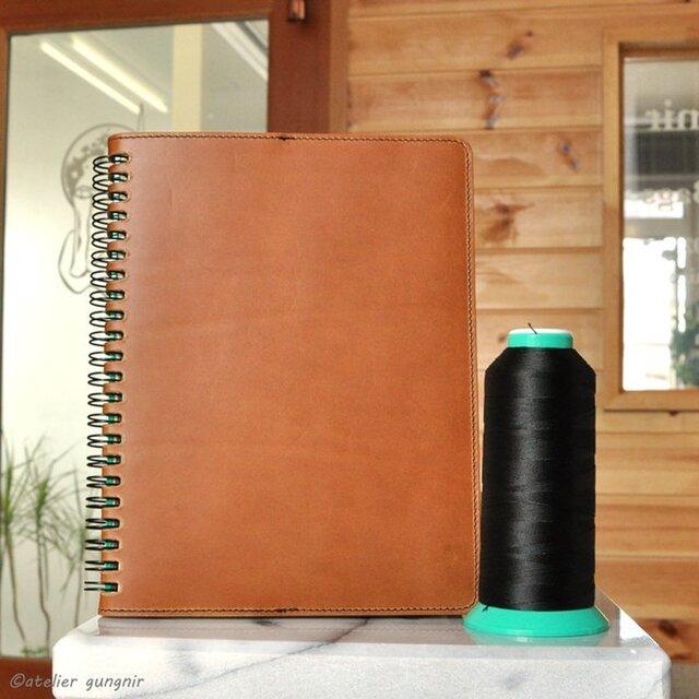 Rollbahnリング手帳カバーA A5サイズ No.1 イタリアンレザーの画像1枚目