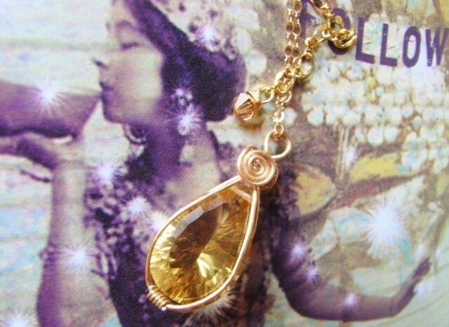 ☆超大粒・宝石質☆ビアクオーツのネックレスの画像1枚目