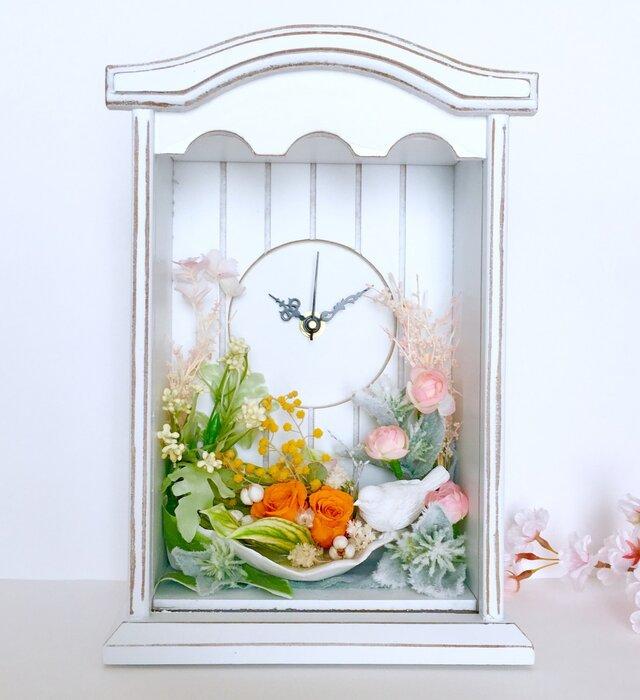 Flower country clock ご結婚お祝いやプレゼントにの画像1枚目