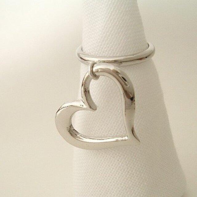 big heart フリーサイズ指輪の画像1枚目