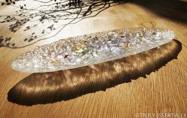 ガラスのアクセサリートレイ -「 灯りのタネ 」 ● ライラック・28cmの画像1枚目