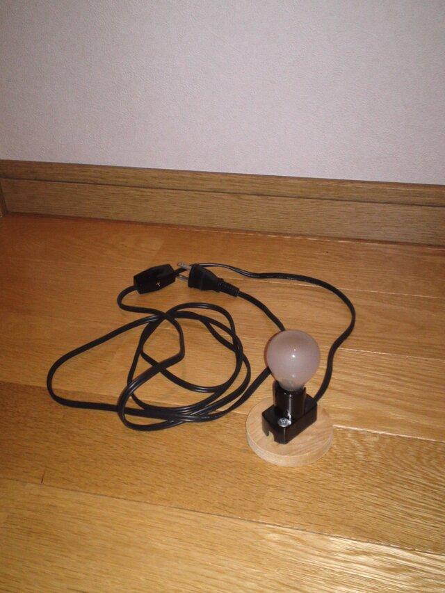 (ザクロ形の灯り)に設置する電気器具の画像1枚目