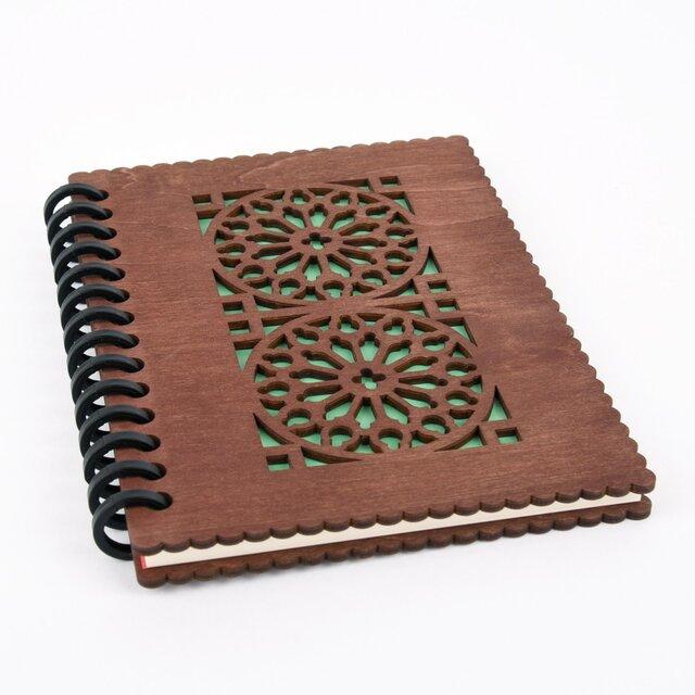 木の表紙のノートブックE カテドラル(木製ルーズリーフ)の画像1枚目
