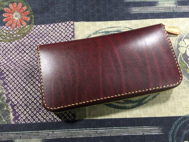 ルガトー ラウンドファスナー長財布の画像1枚目