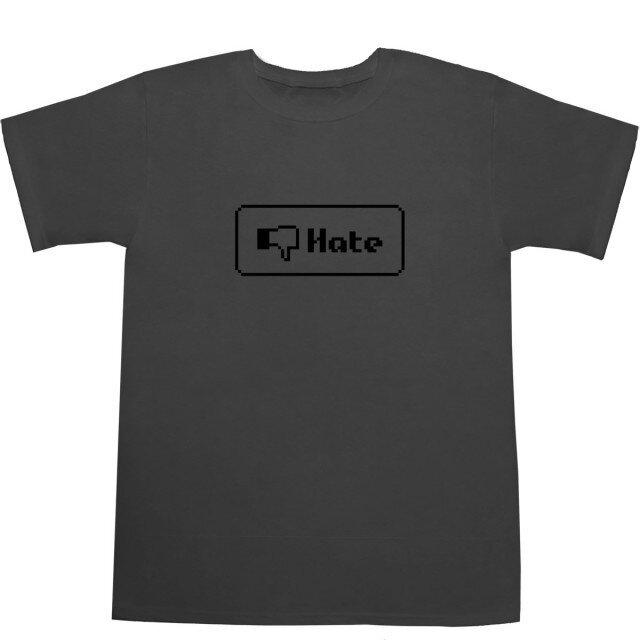 8 bit 『Hate』ボタン Tシャツの画像1枚目