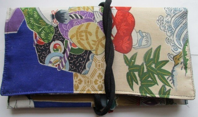 着物リメイク 男の子の着物で作った和風財布 2266の画像1枚目