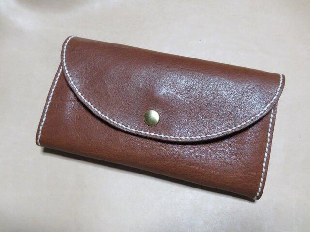 (選べる革、ステッチ)オリジナル長財布の画像1枚目