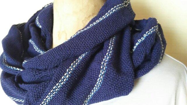 手織りシルクロングストール 335の画像1枚目