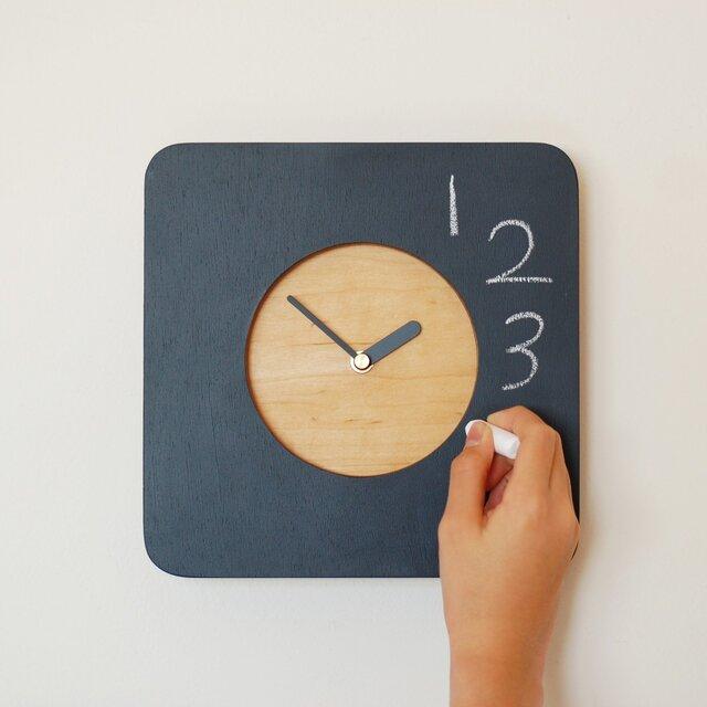 黒板の時計 ミニの画像1枚目