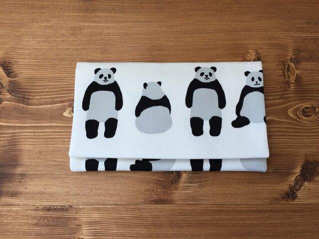 懐紙、通帳いれ Panda whiteの画像1枚目