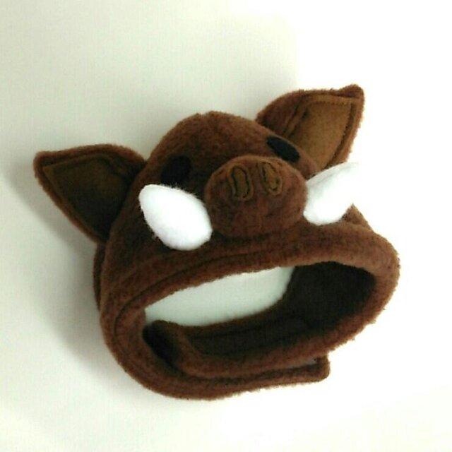 猪(いのしし)のかぶりもの(帽子)【S/M/L】の画像1枚目