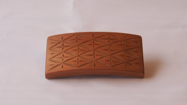 #6 チップカービングバレッタ 【木工彫刻】の画像1枚目