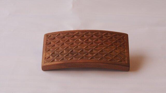 #7 チップカービングバレッタ 【木工彫刻】の画像1枚目
