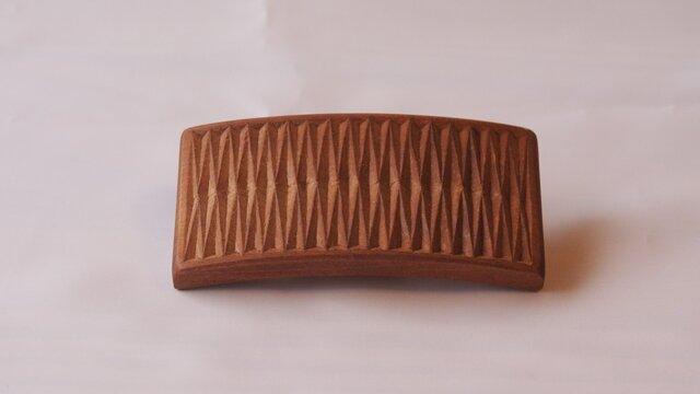 #8 チップカービングバレッタ 【木工彫刻】の画像1枚目