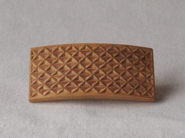 #10 チップカービングバレッタ 【木工彫刻】の画像1枚目