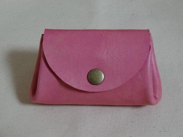 バングラキップ革 コインケース ピンクの画像1枚目