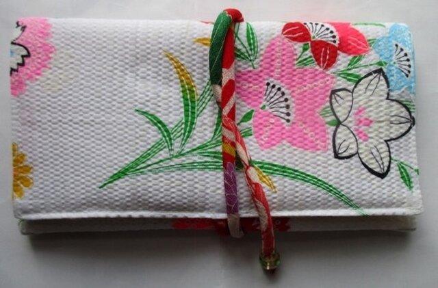 着物リメイク 女の子の浴衣で作った和風財布 2311の画像1枚目