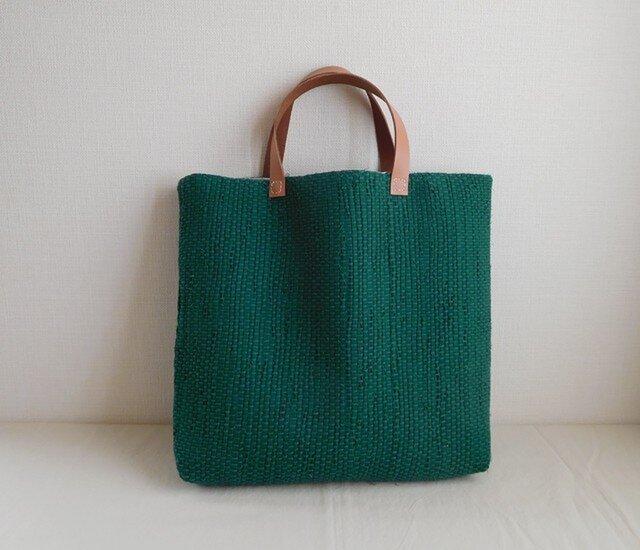 裂き織りバッグ グリーンの画像1枚目