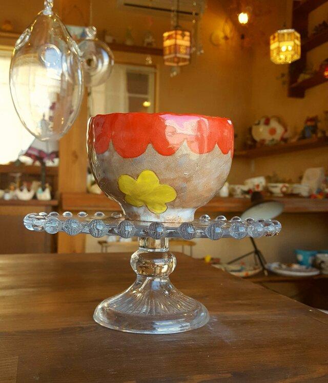 お花のフリーカップの画像1枚目