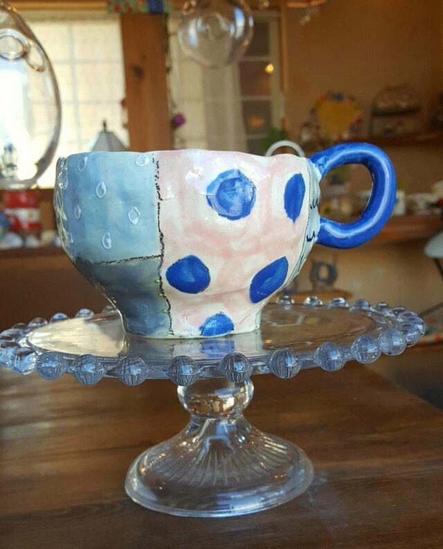 パッチワークマグカップの画像1枚目