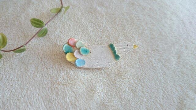 ブローチ(Colorful bird Brooch-011)の画像1枚目