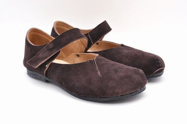 #Tokuyama Shoes:『plie MT-shoes』dark-brown suede leatherの画像1枚目
