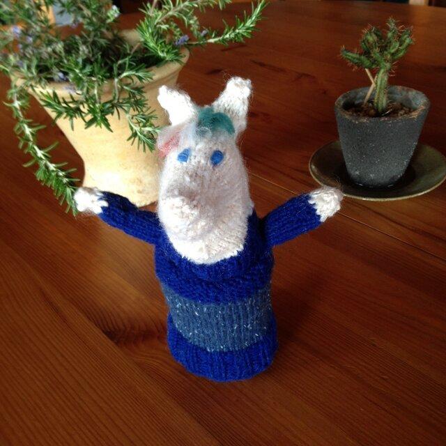 北欧風✩シックなニットのお馬さんの編みぐるみの画像1枚目