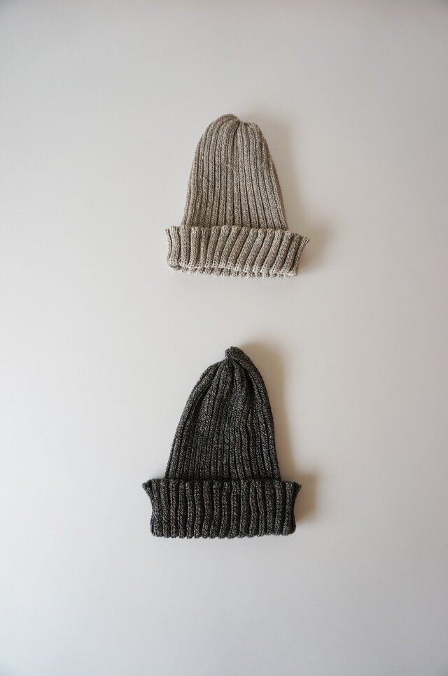 Linen knit cap KID'Sの画像1枚目