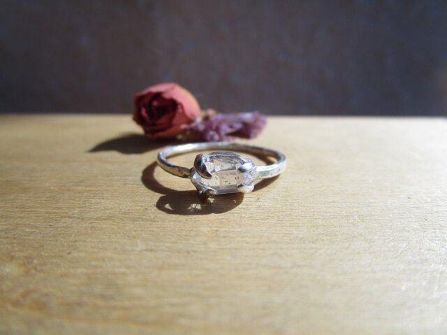 silver ハーキマーダイヤモンド リングの画像1枚目