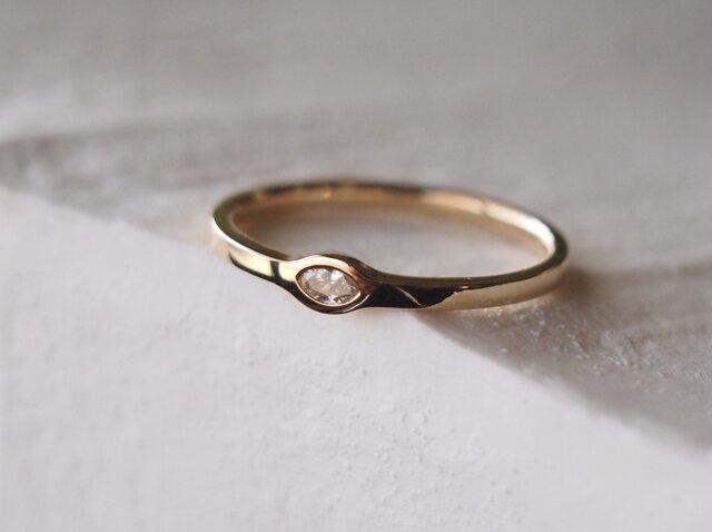 天然マーキスダイヤモンド指輪の画像1枚目