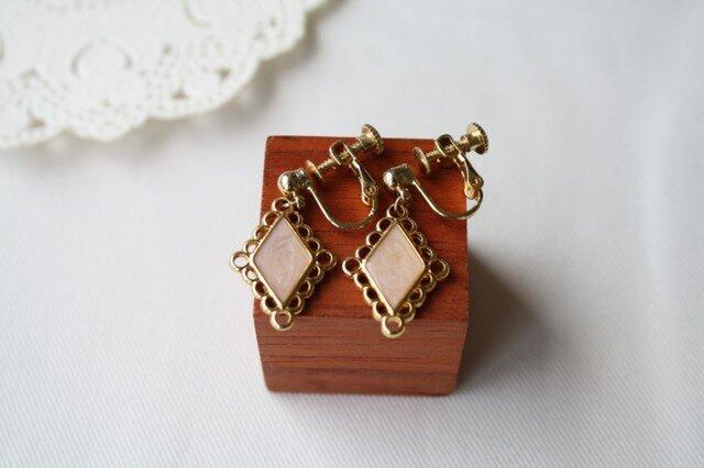【再販】ピンクダイヤのイヤリングの画像1枚目