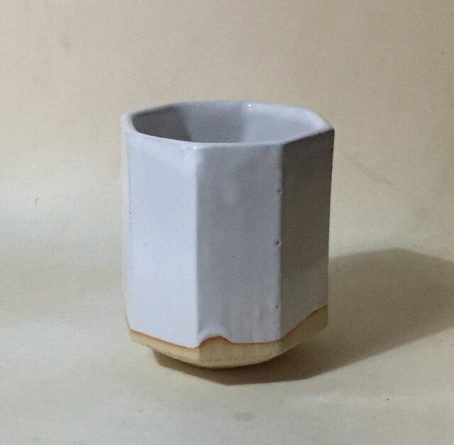 T029 白釉八角湯呑の画像1枚目