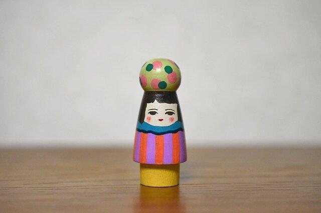 球体者(みどりピンク水玉)の画像1枚目