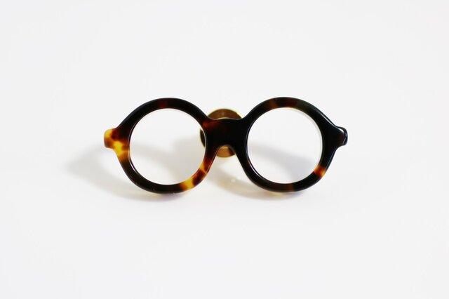 メガネラぺルピン(丸メガネ、Mサイズ、長針、ブラウン2)の画像1枚目