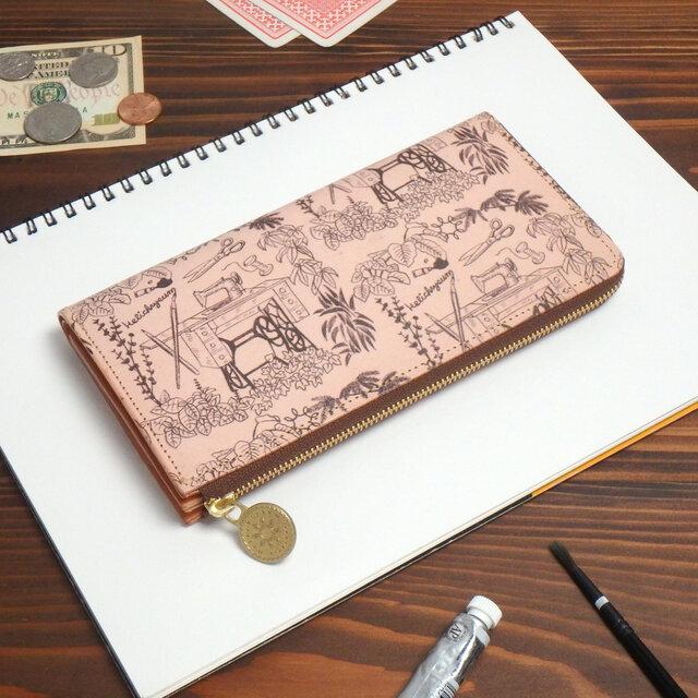 L字ファスナー長財布(アトリエ)オールレザー 牛革 レディース メンズ ILL-1156の画像1枚目