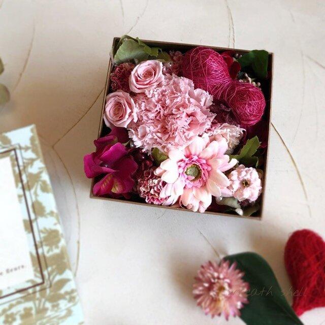 Box Flower かわいいピンクの画像1枚目