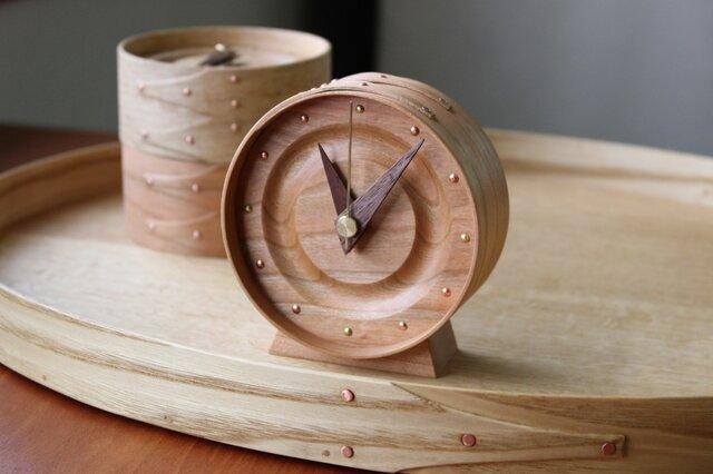 曲げ木の置き時計(CHERRY)の画像1枚目
