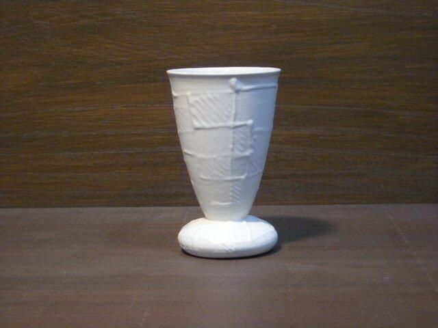 白釉線描ゴブレット(小)の画像1枚目