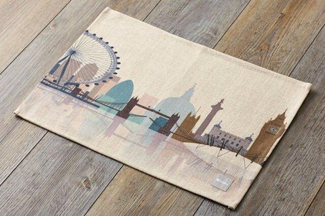 ランチョンマット 北欧デザイン ロンドンスケープ 2枚組 天然リネン 45×32cm jubileeteatoweltt040の画像1枚目