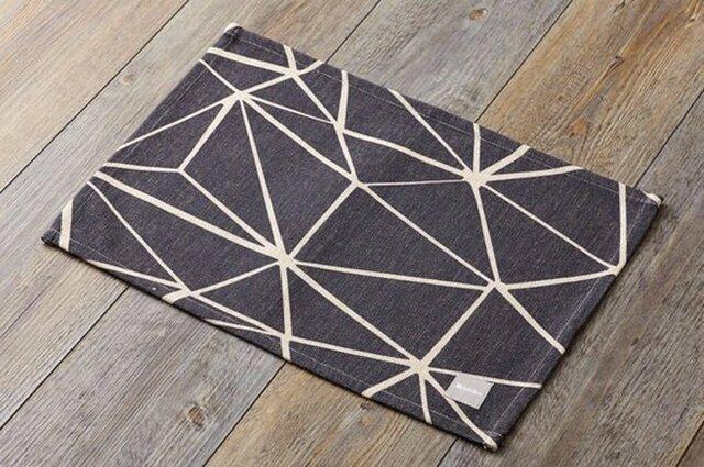 ランチョンマット 北欧デザイン ブラックビーム 2枚組 天然リネン 45×32cm jubileeteatoweltt020の画像1枚目
