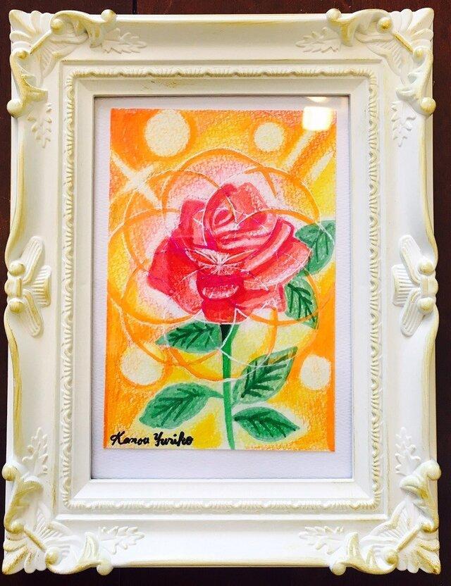 【靖子さま予約作品】Divine Geometry With Flowers036 立てるタイプのクラシカル額縁に額装済みの画像1枚目