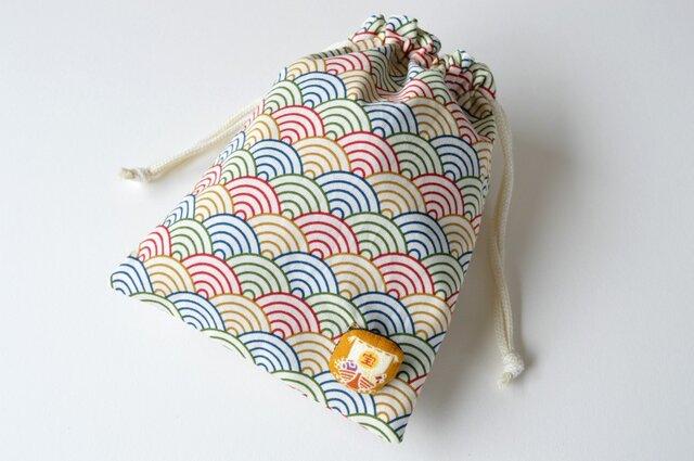 五色波の宝船・巾着袋の画像1枚目