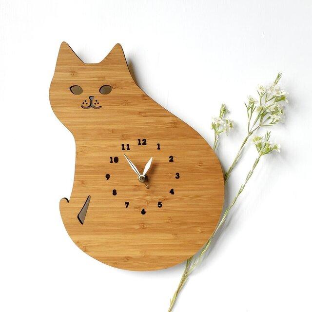 CAT 猫の掛け時計の画像1枚目