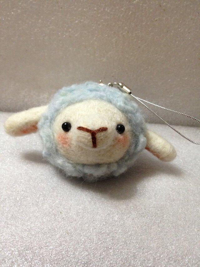 羊毛フェルト ぷくぷく羊ちゃんの画像1枚目