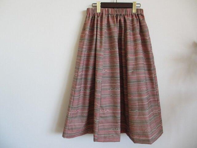 着物リメイク*大和撫子ピンク色のスカートの画像1枚目